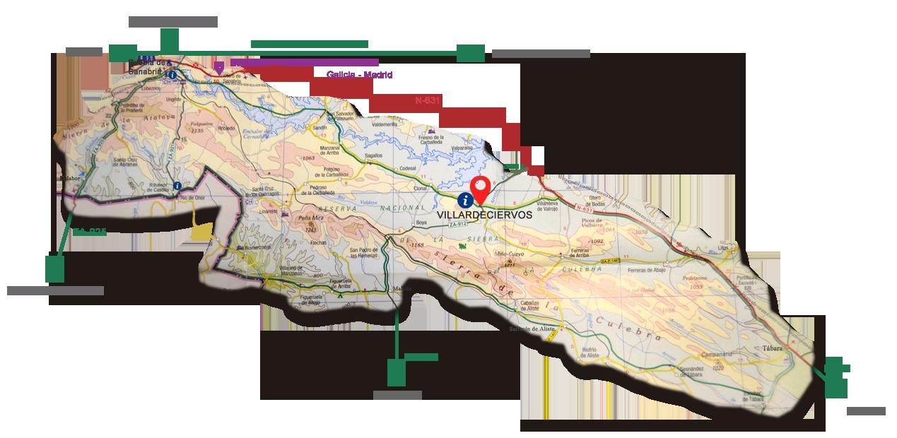 Plano Sierra de La Culebra